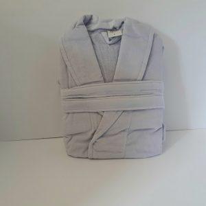 חלוק מגבת קטיפה - אפור