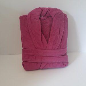 חלוק מגבת ורוד קטיפה